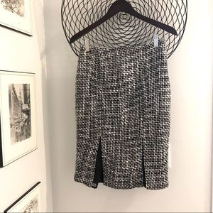 Suzy Sheir pencil skirt with mesh slits